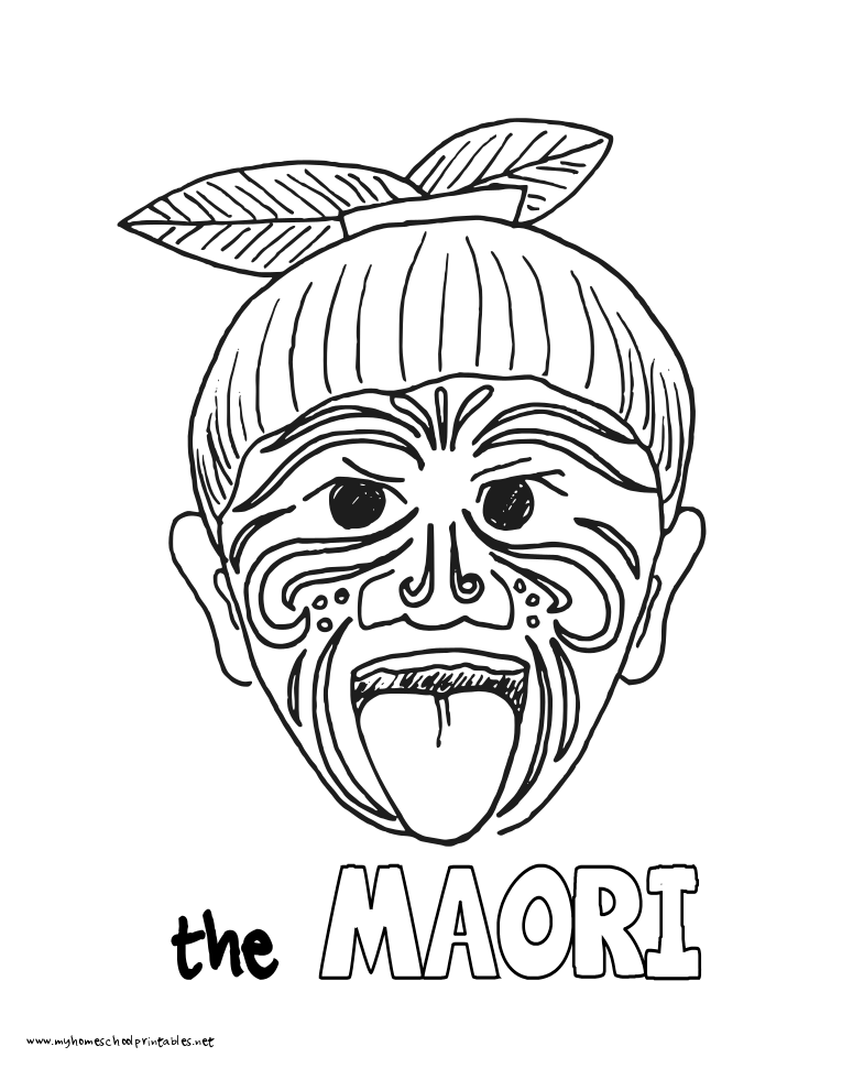 World History Coloring Pages Printables the Maori of New Zealand