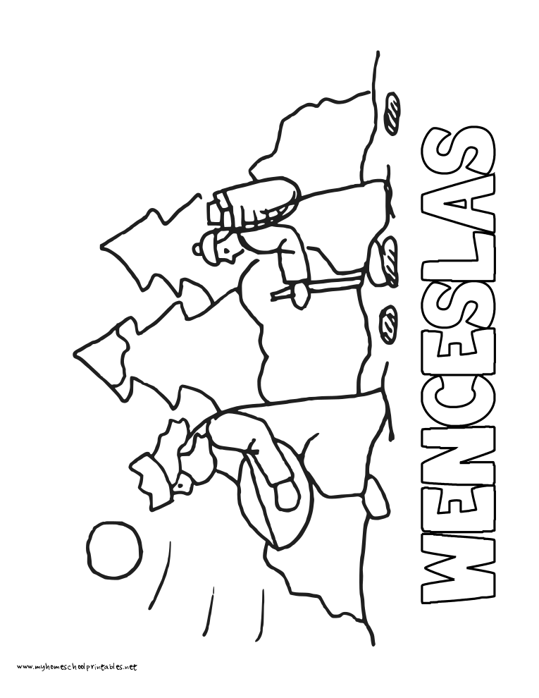 World History Coloring Pages Printables Good King Wenceslas