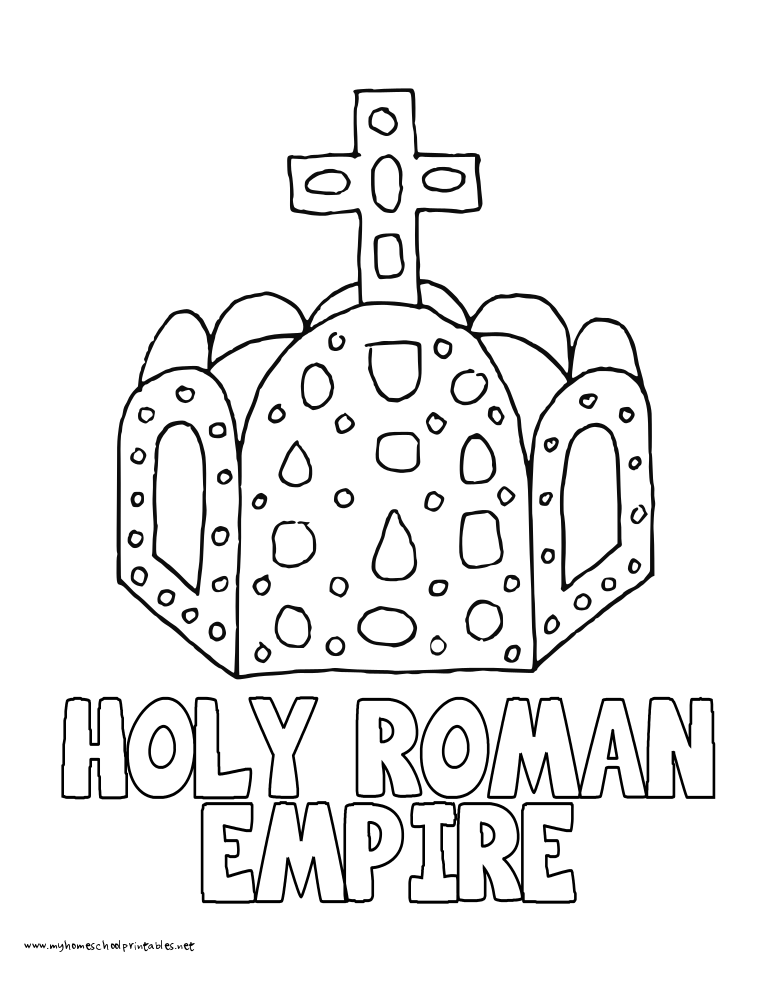 World History Coloring Pages Printables Holy Roman Empire