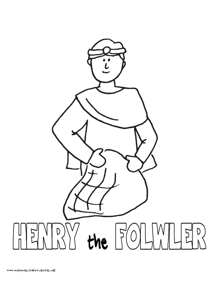 World History Coloring Pages Printables Henry the Fowler