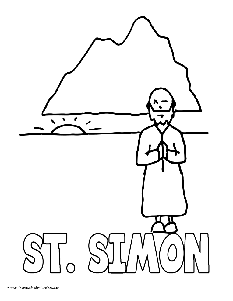World History Coloring Pages Printables Saint Simon