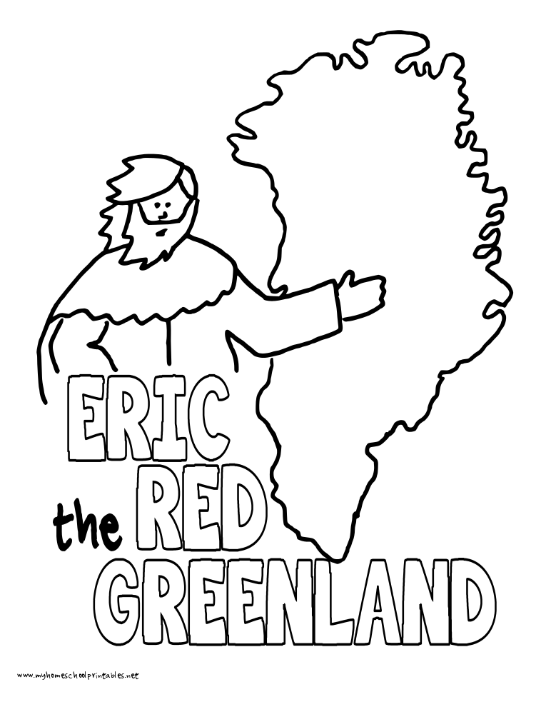 World History Coloring Pages Printables Eric the Red