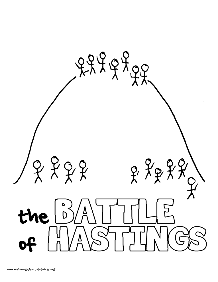World History Coloring Pages Printables Battle of Hastings