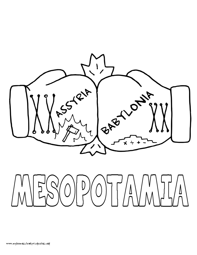 World History Coloring Pages Printables Mesopotamia