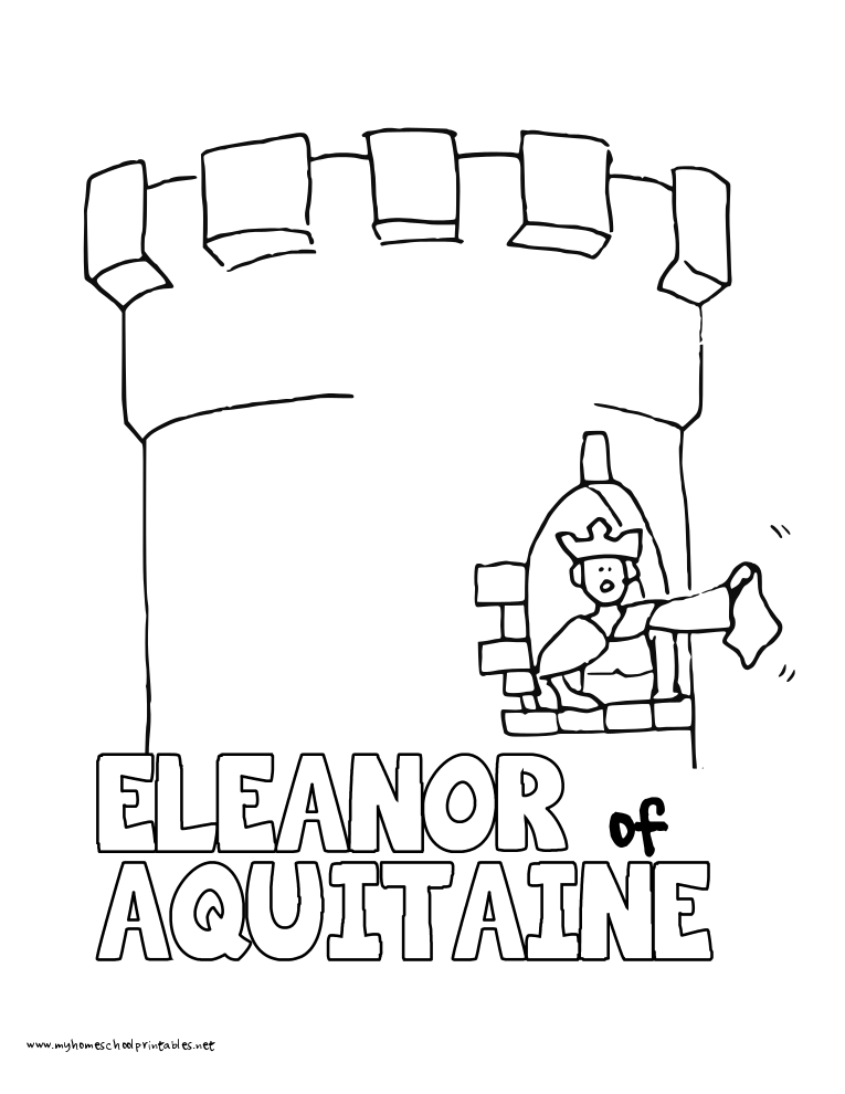 World History Coloring Pages Printables Queen Eleanor of Aquitaine