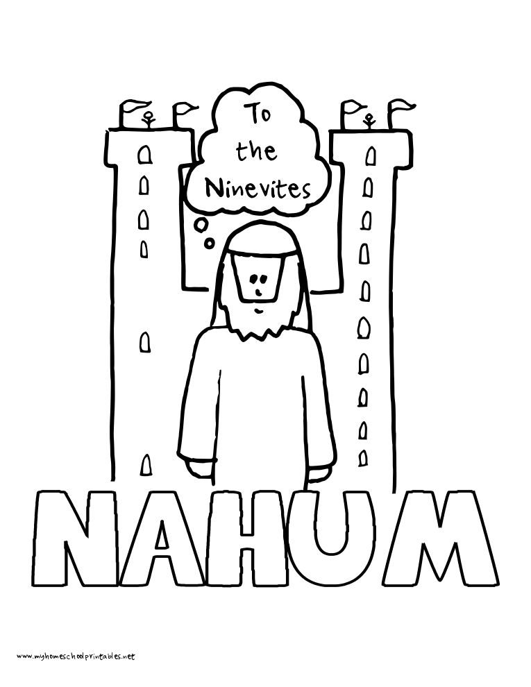 World History Coloring Pages Printables Nahum