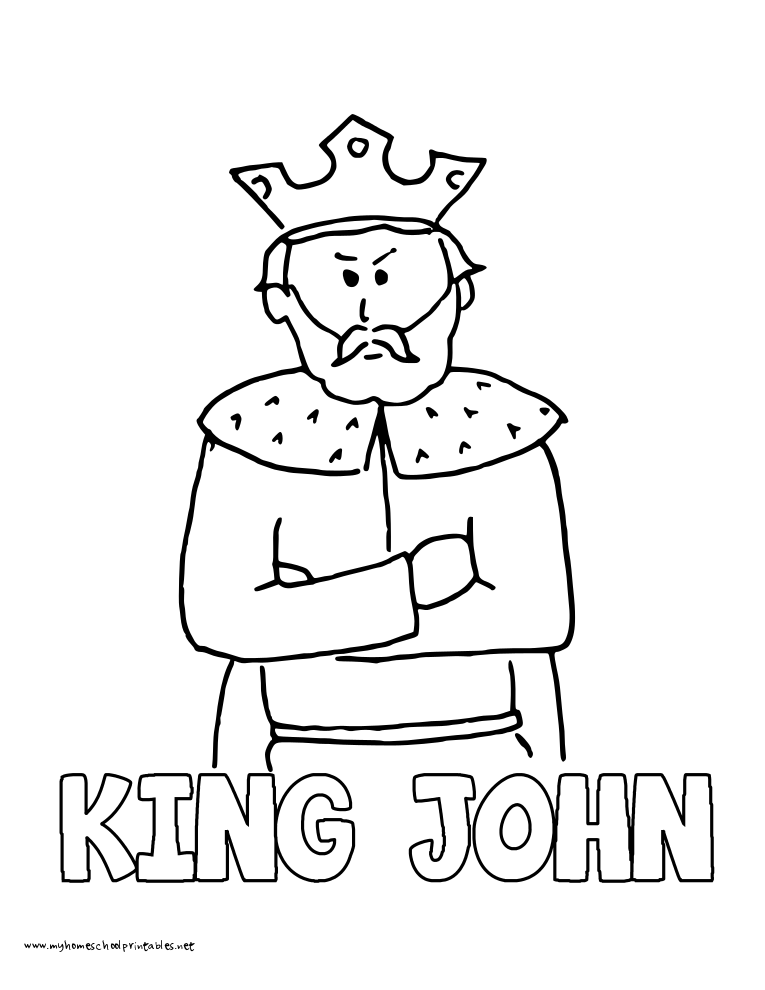 World History Coloring Pages Printables King John