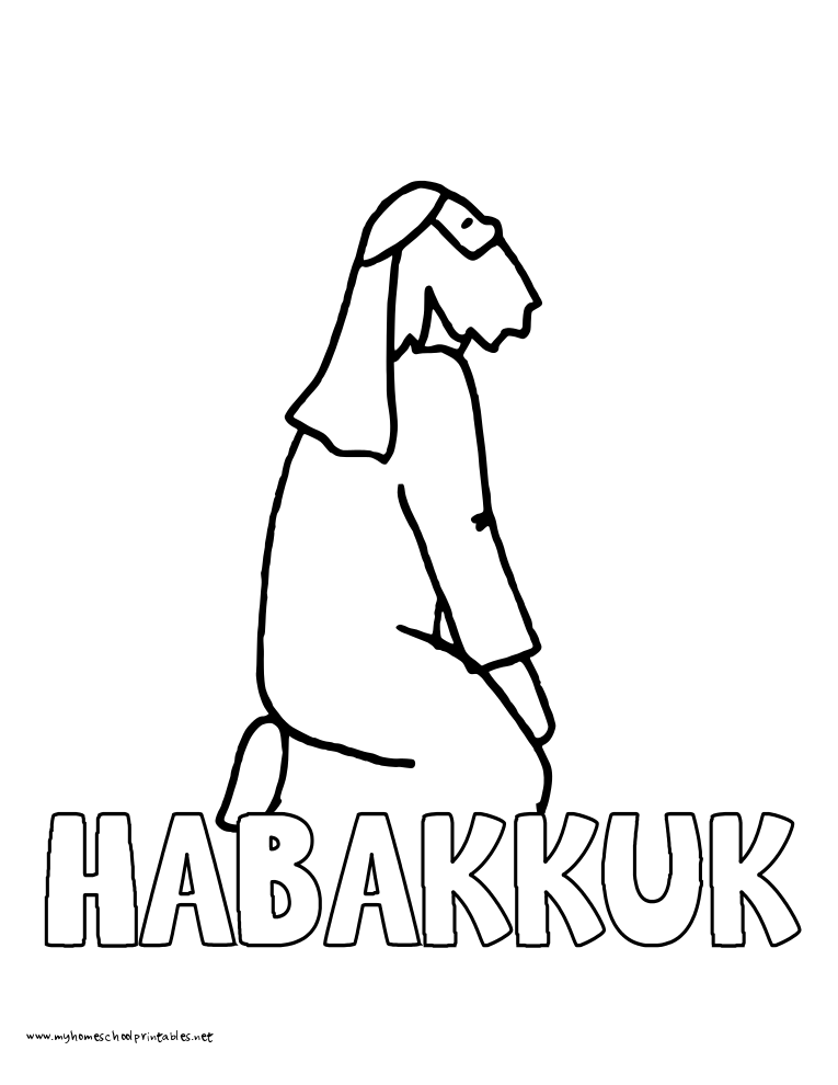 World History Coloring Pages Printables Habakkuk