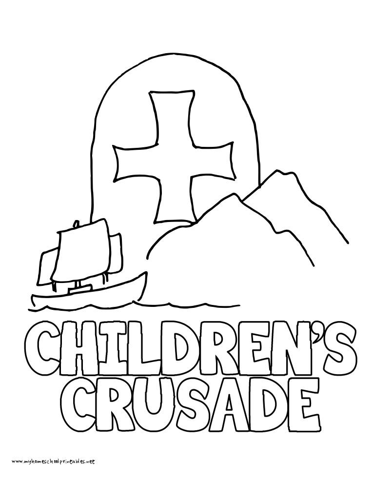 World History Coloring Pages Printables Children's Crusade