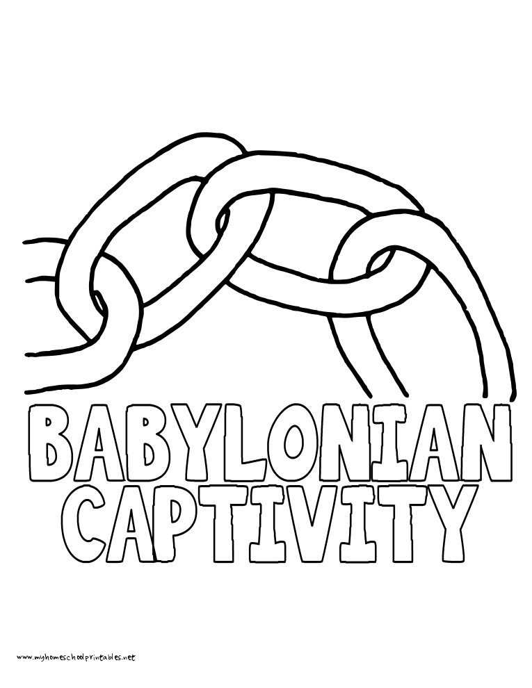 World History Coloring Pages Printables Babylonian Captivity