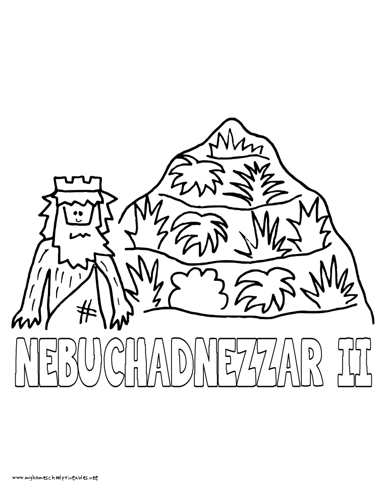 World History Coloring Pages Printables Nebuchadnezer