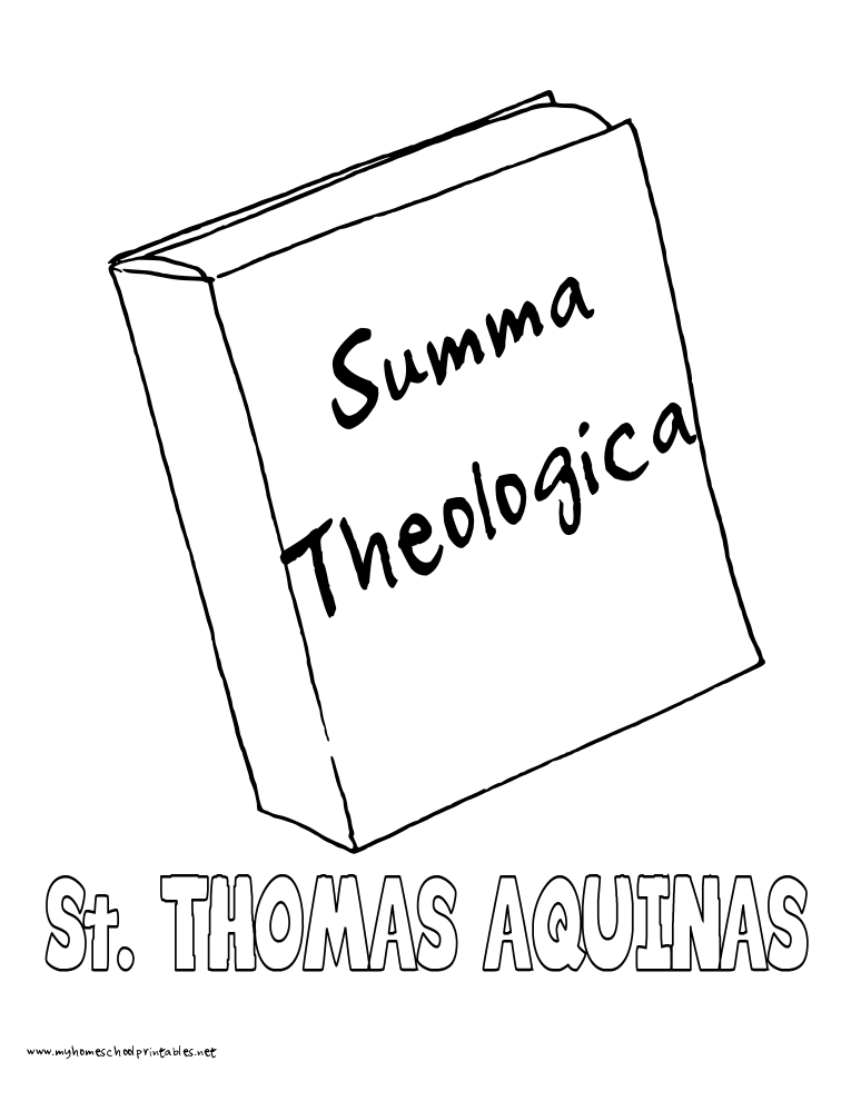World History Coloring Pages Printables Saint Thomas Aquinas