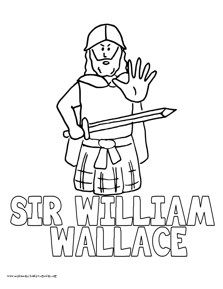 World History Coloring Pages Printables Sir William Wallace