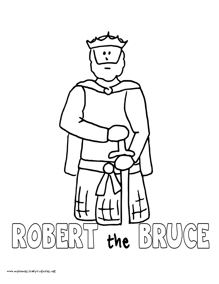 World History Coloring Pages Printables Robert the Bruce