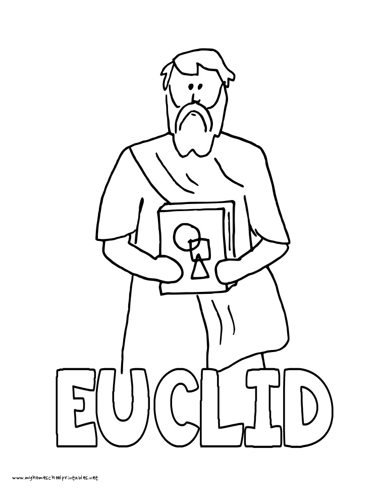 World History Coloring Pages Printables Euclid