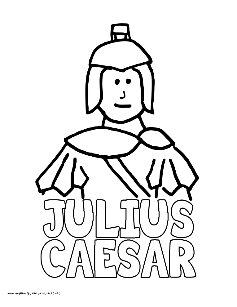 World History Coloring Pages Printables Caesar