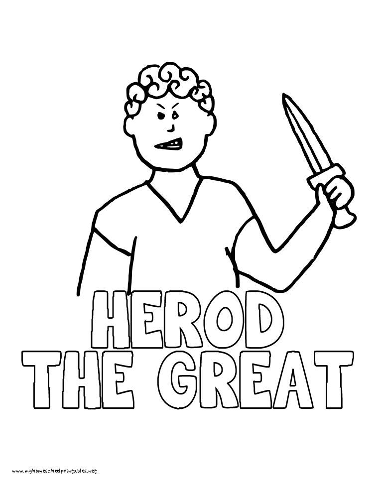 World History Coloring Pages Printables Herod the Great
