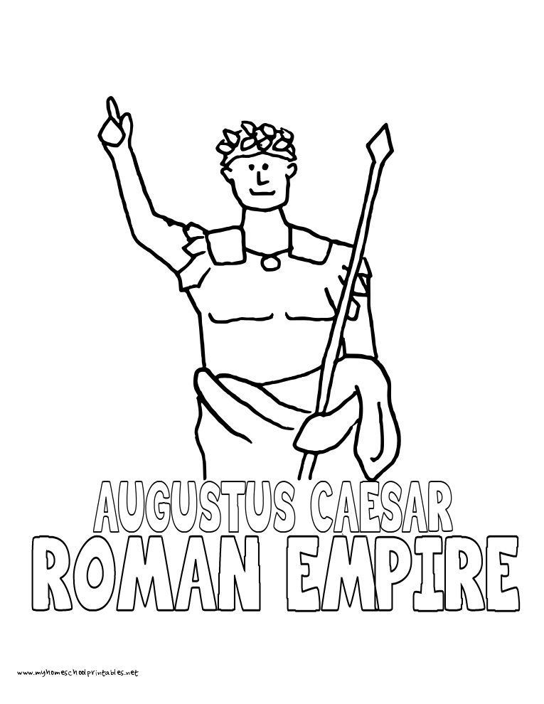 World History Coloring Pages Printables Caesar Augustus