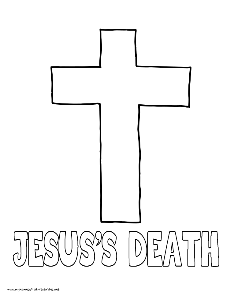 World History Coloring Pages Printables Jesus's Death