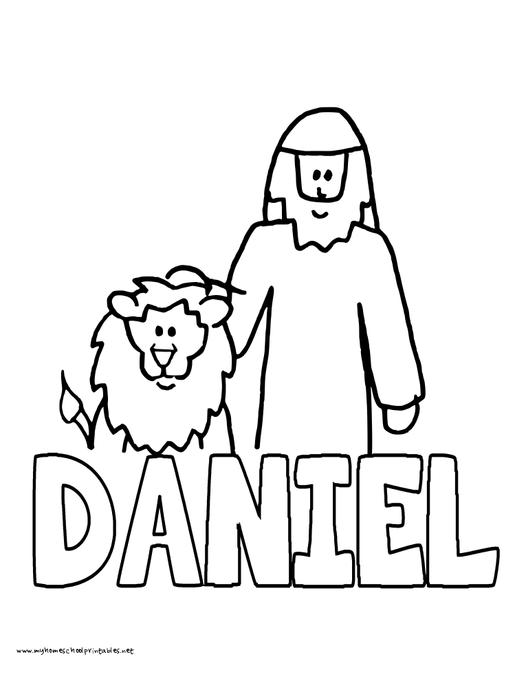 World History Coloring Pages Printables Daniel and the Lions