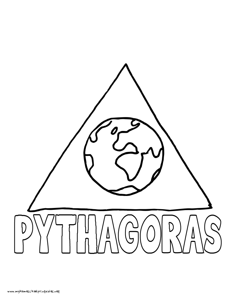World History Coloring Pages Printables Pythagoras