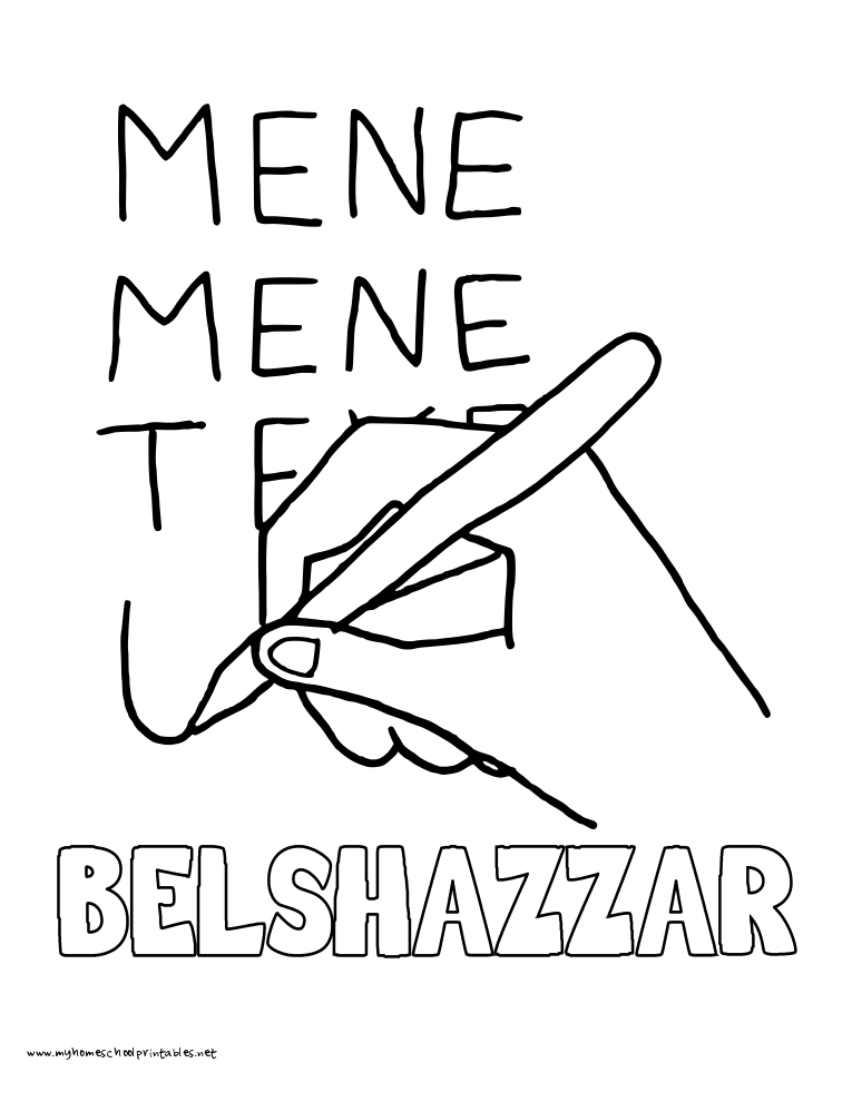 World History Coloring Pages Printables Belshazzar