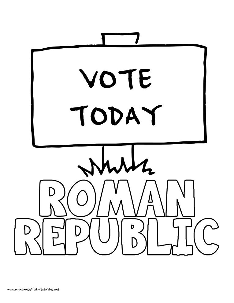 World History Coloring Pages Printables Roman Republic