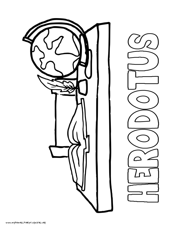 World History Coloring Pages Printables Herodotus