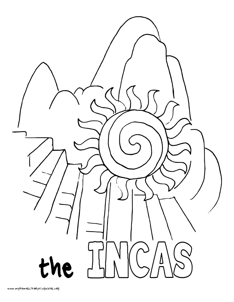 ancient calendars coloring pages - photo#30