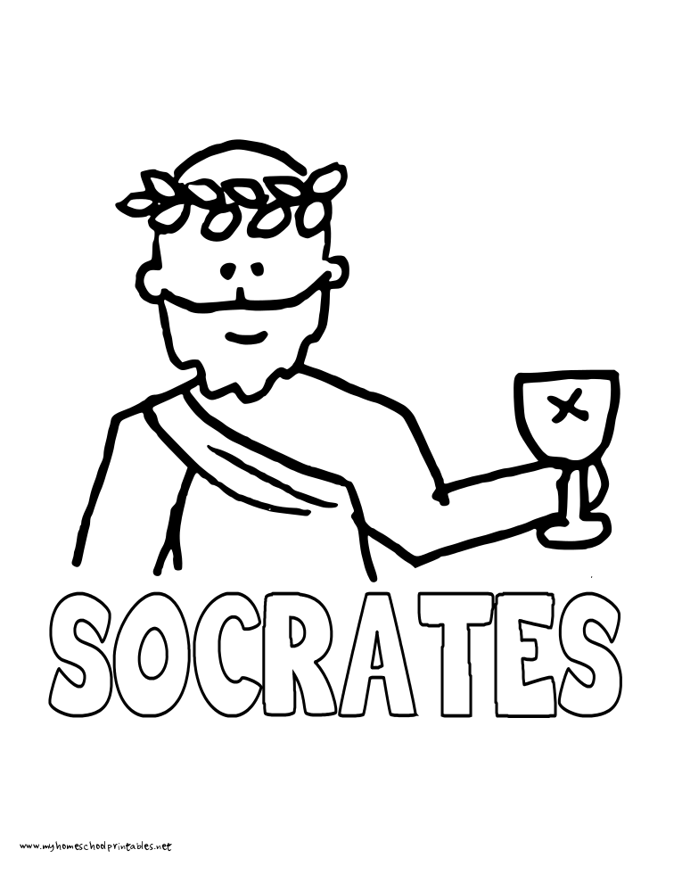 World History Coloring Pages Printables Socrates