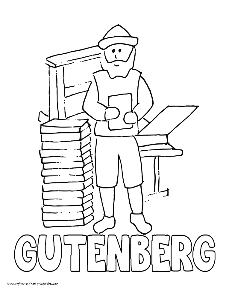 World History Coloring Pages Printables Gutenberg