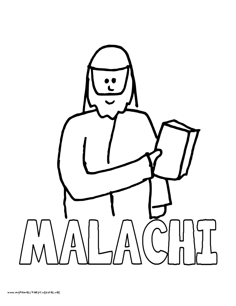 World History Coloring Pages Printables Malachi
