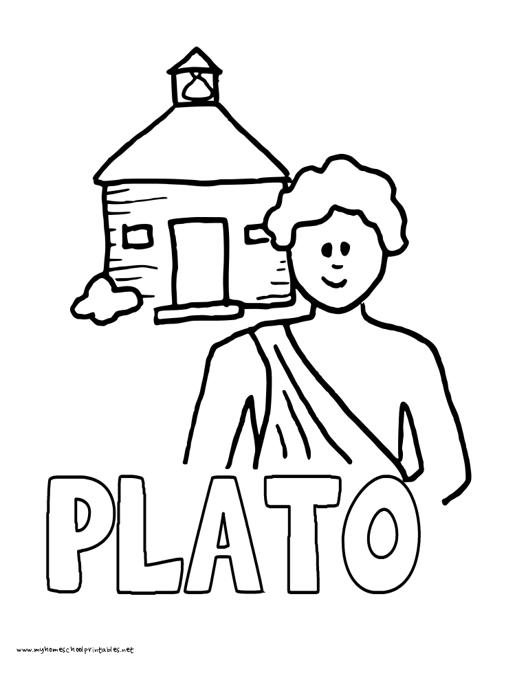 World History Coloring Pages Printables Plato