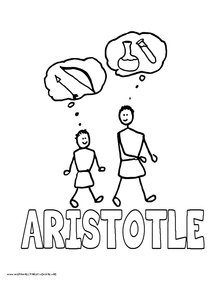 World History Coloring Pages Printables Aristotle