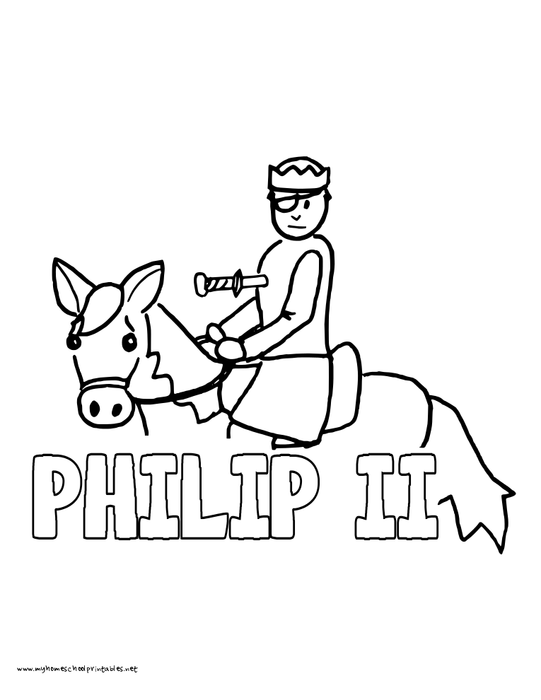 World History Coloring Pages Printables Philip II