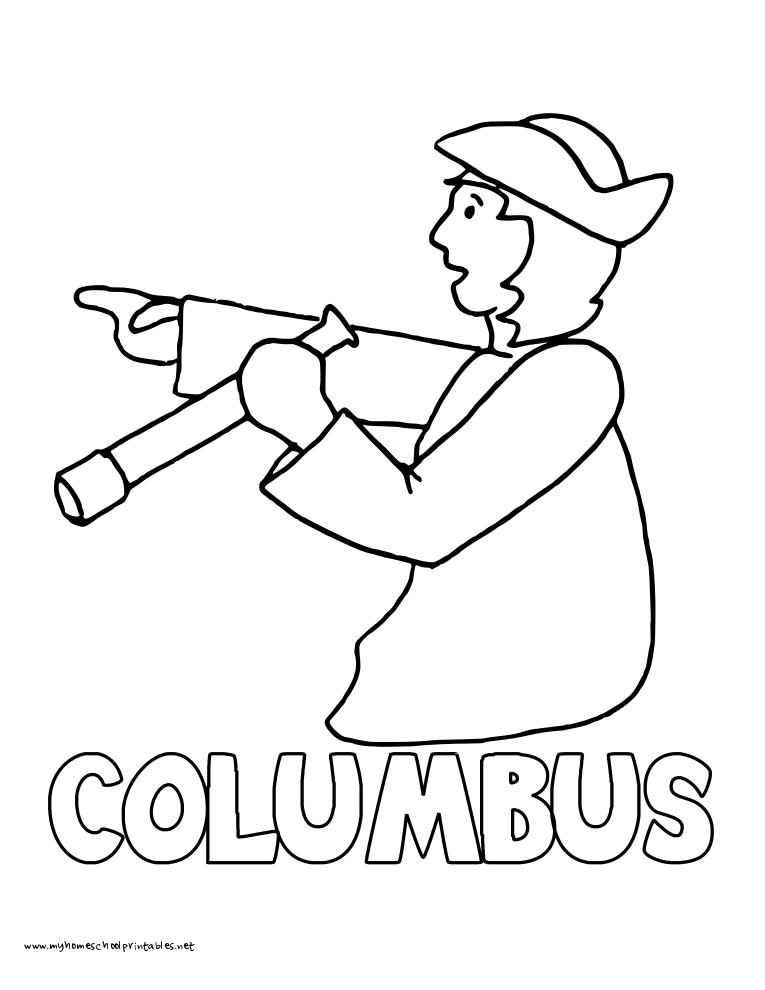 World History Coloring Pages Printables Christopher Columbus Colon Colombo