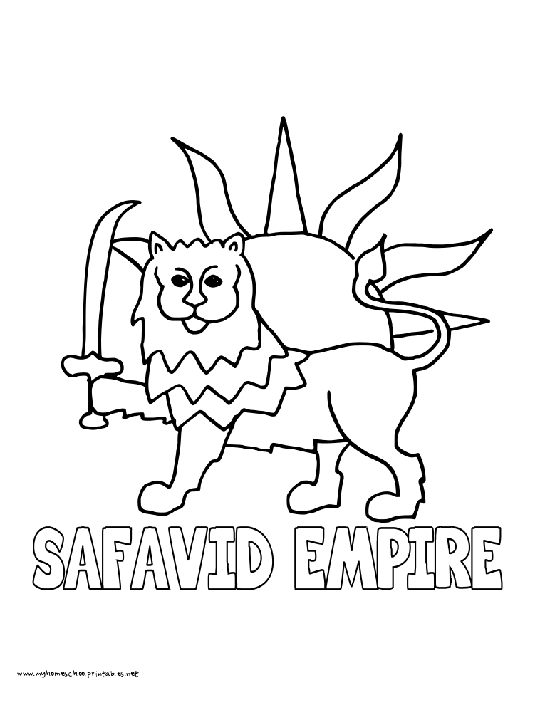 World History Coloring Pages Printables Safavid Empire Persia