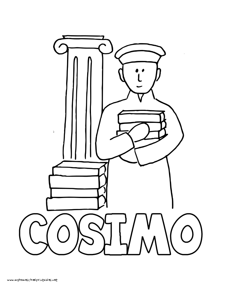 World History Coloring Pages Printables Cosimo de Medici