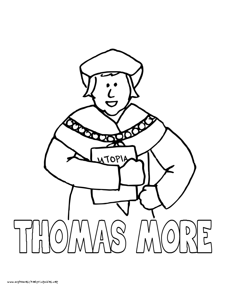 world history coloring pages printables thomas more