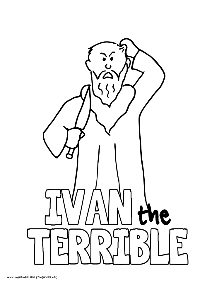 World History Coloring Pages Printables Ivan the Terrible