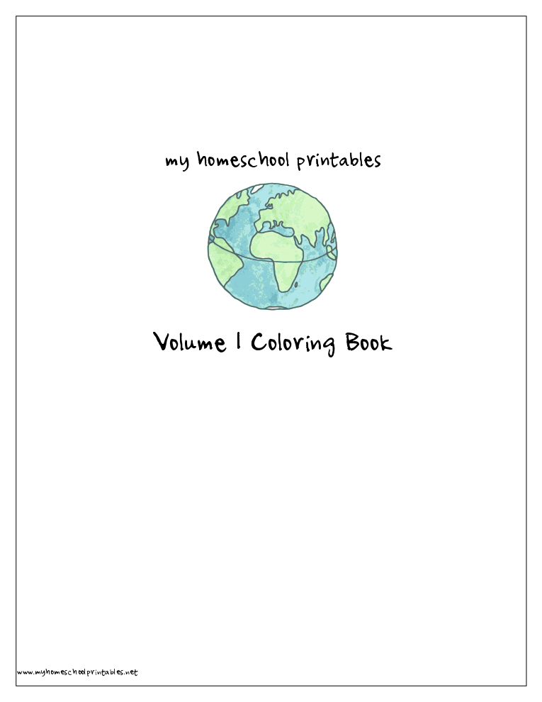 History Timeline Figures Printable Coloring Book 1