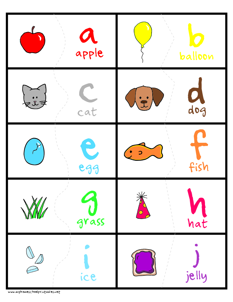 Printable matching letter game cute cut out