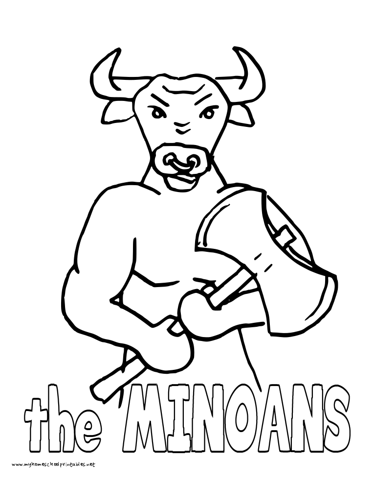 World History Coloring Pages Printables Minoans