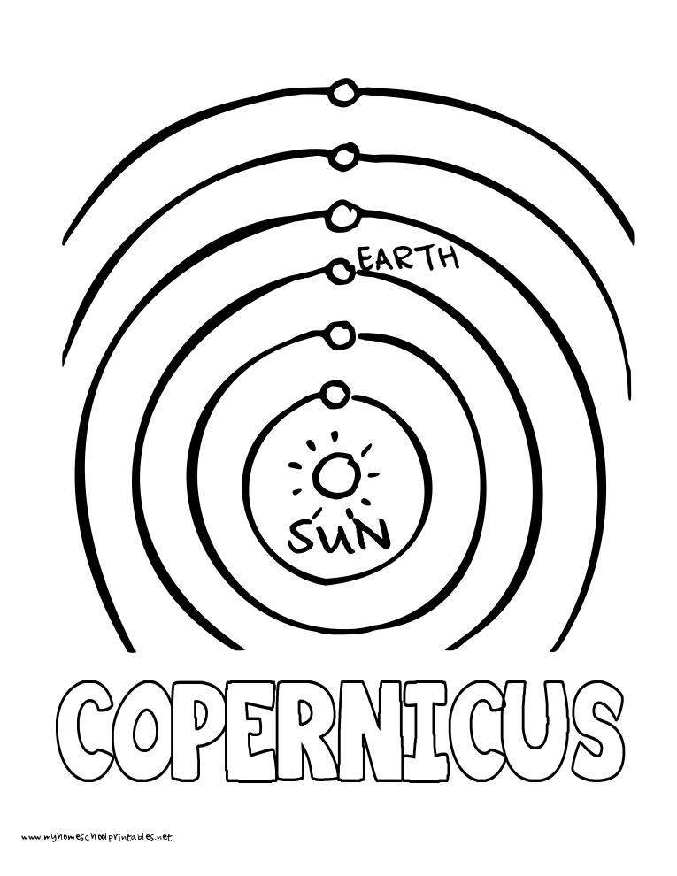 World History Coloring Pages Printables Copernicus