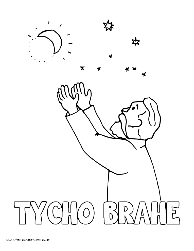 World History Coloring Pages Printables Tycho Brahe