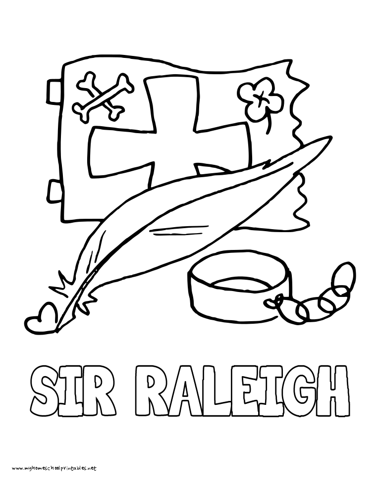 World History Coloring Pages Printables Sir Raleigh