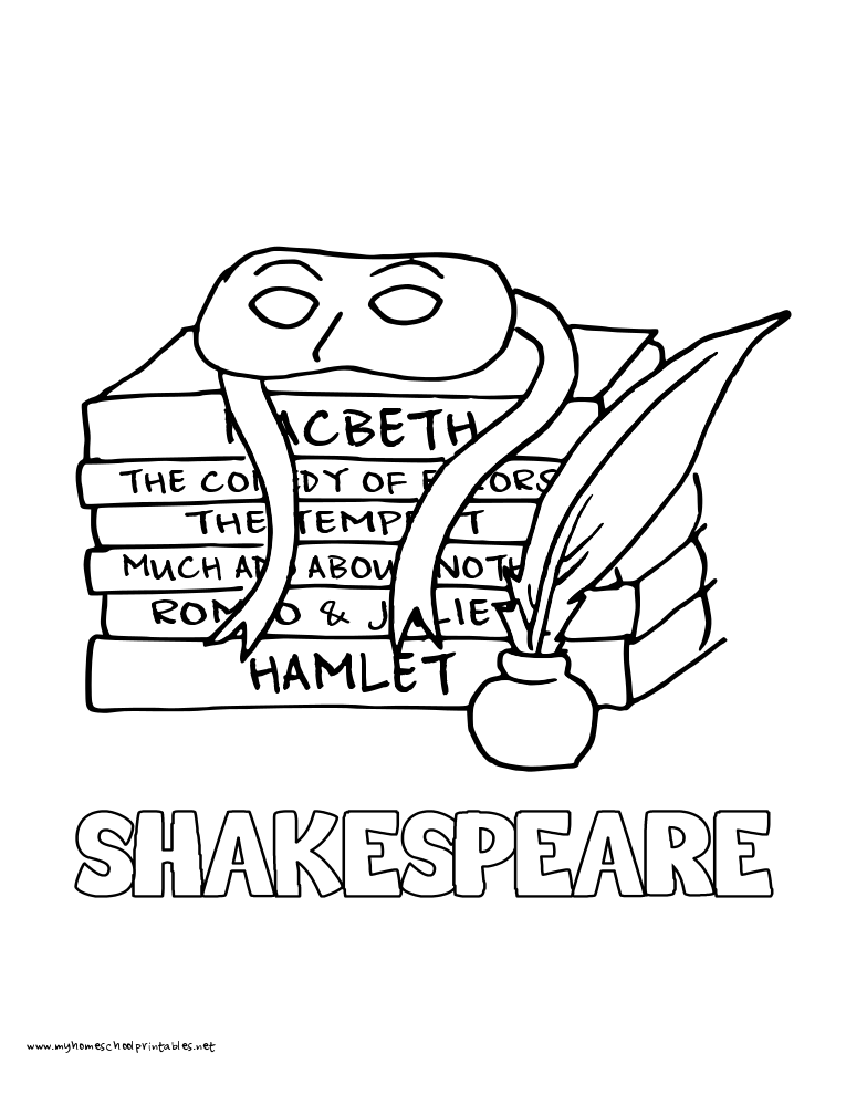 coloring pages shakespeare - photo#1