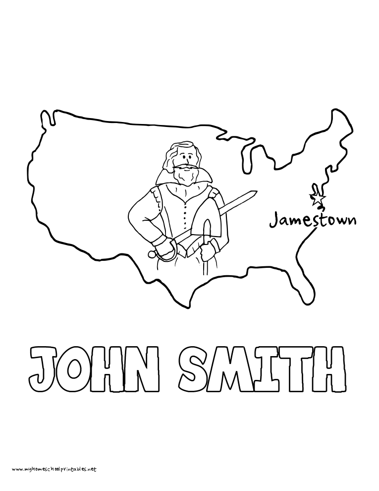 jamestown coloring pages - photo#37