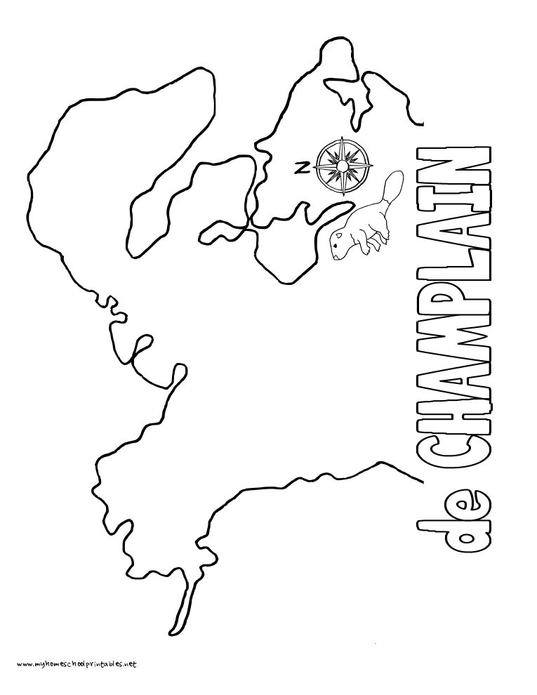 World History Coloring Pages Printables deChamplain