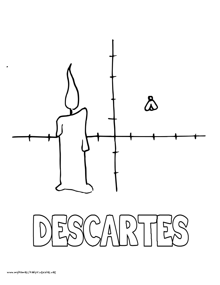 World History Coloring Pages Printables Rene Descartes